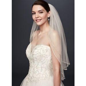David's Bridal Two Tier Sparkling Veil